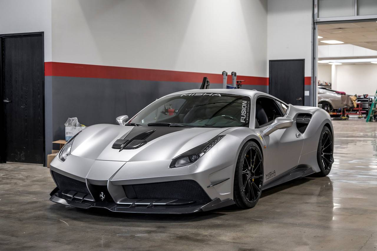 official misha design ferrari 488 gtb widebody gtspirit. Black Bedroom Furniture Sets. Home Design Ideas