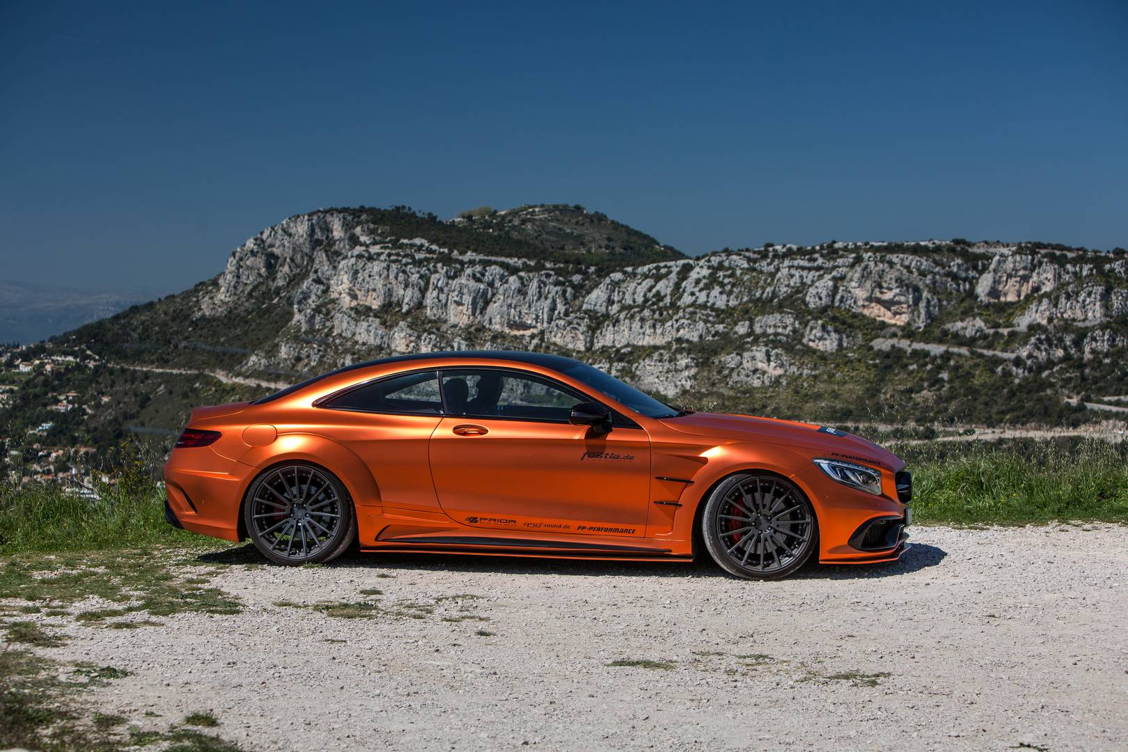 740hp orange chrome matt mercedes amg s63 by for Mercedes benz s63 amg biturbo