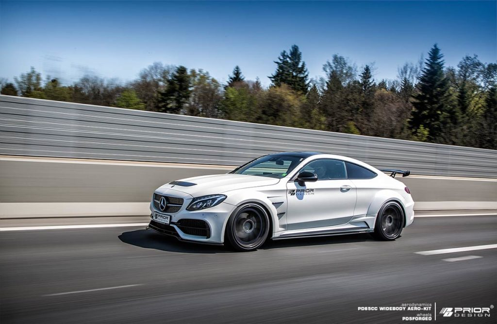 Official prior design mercedes benz c class coupe widebody gtspirit - Mercedes c class coupe body kit ...