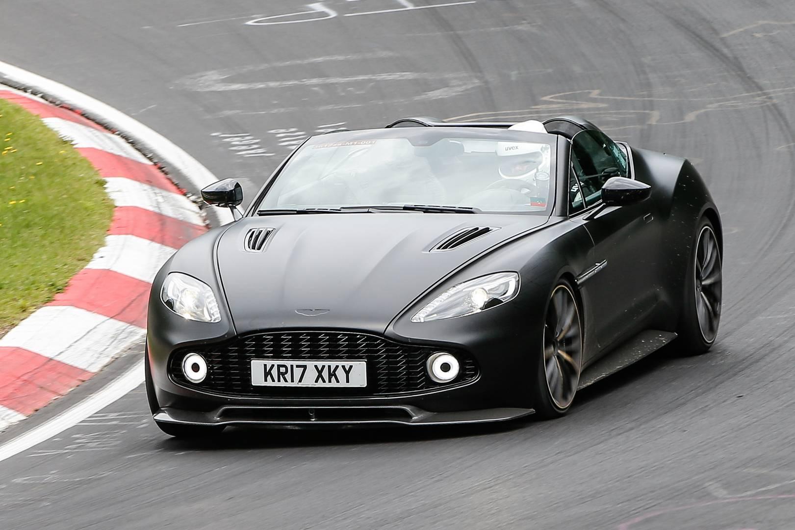 Of Zagato Aston Martin Vanquish Speedster Seen For The First - Aston martin vanquish zagato