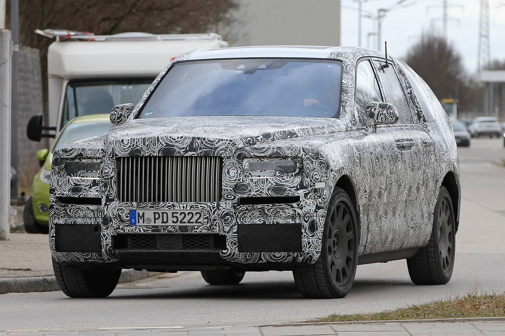 Rolls-Royce Cullinan SUV Spy Shots with Production Front