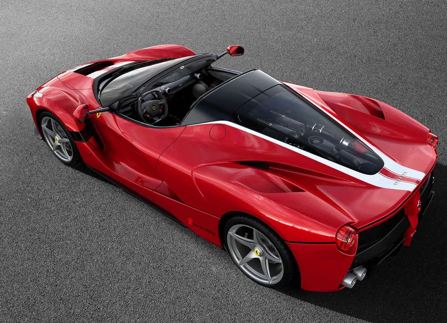 Unique Rosso Fuoco LaFerrari Aperta to be Auctioned for Charity
