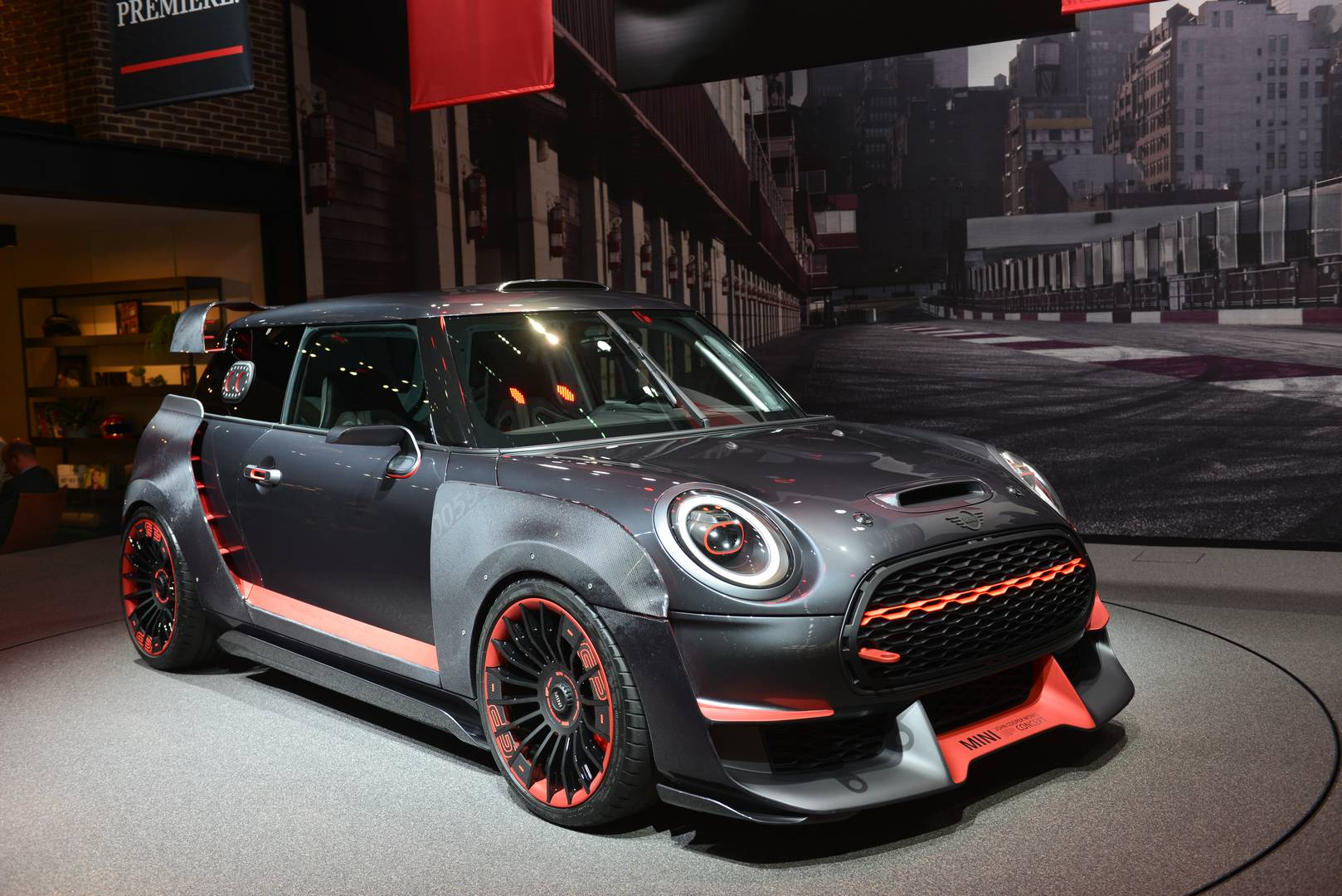 iaa frankfurt 2017 mini john cooper works gp concept gtspirit. Black Bedroom Furniture Sets. Home Design Ideas