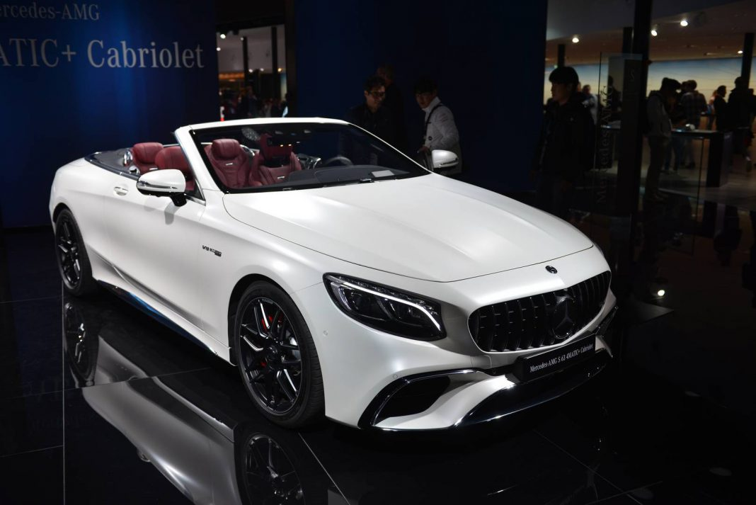 iaa frankfurt 2017 mercedes amg s63 cabriolet facelift gtspirit. Black Bedroom Furniture Sets. Home Design Ideas