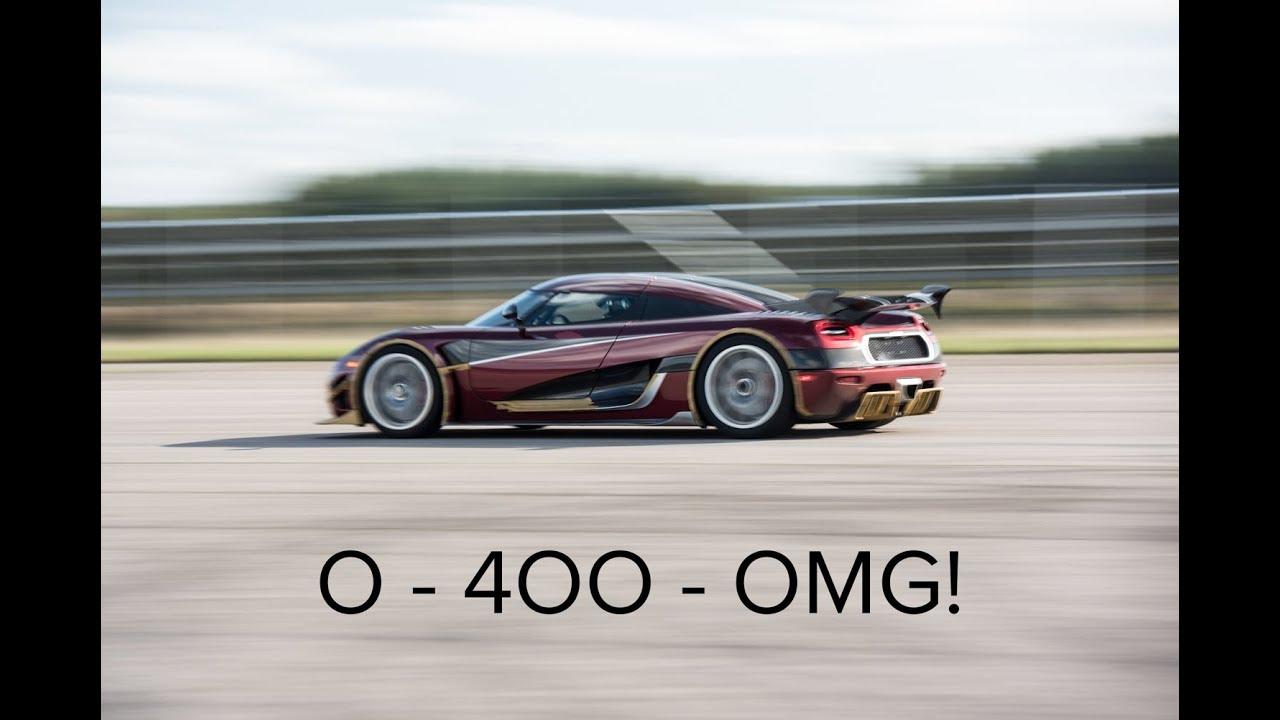 Koenigsegg Agera RS Shutters Bugatti Chiron 0-400-0km/h Record: 36.4s!