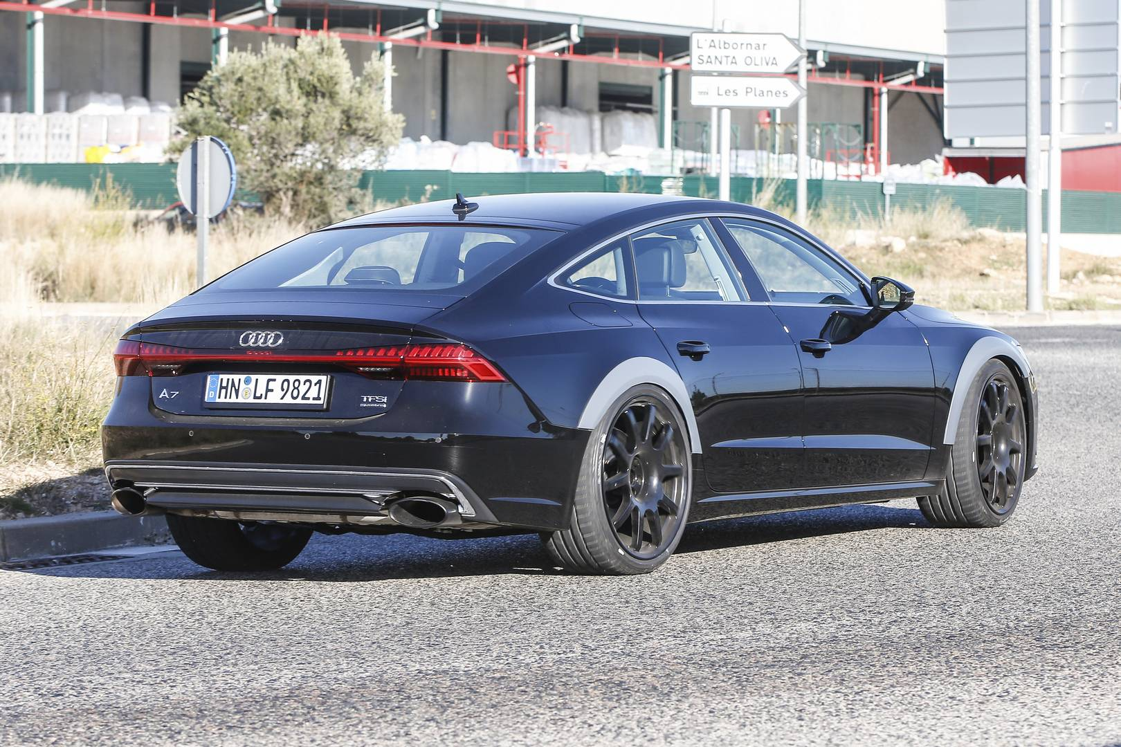2019 audi rs7 test mule first spy shots gtspirit. Black Bedroom Furniture Sets. Home Design Ideas
