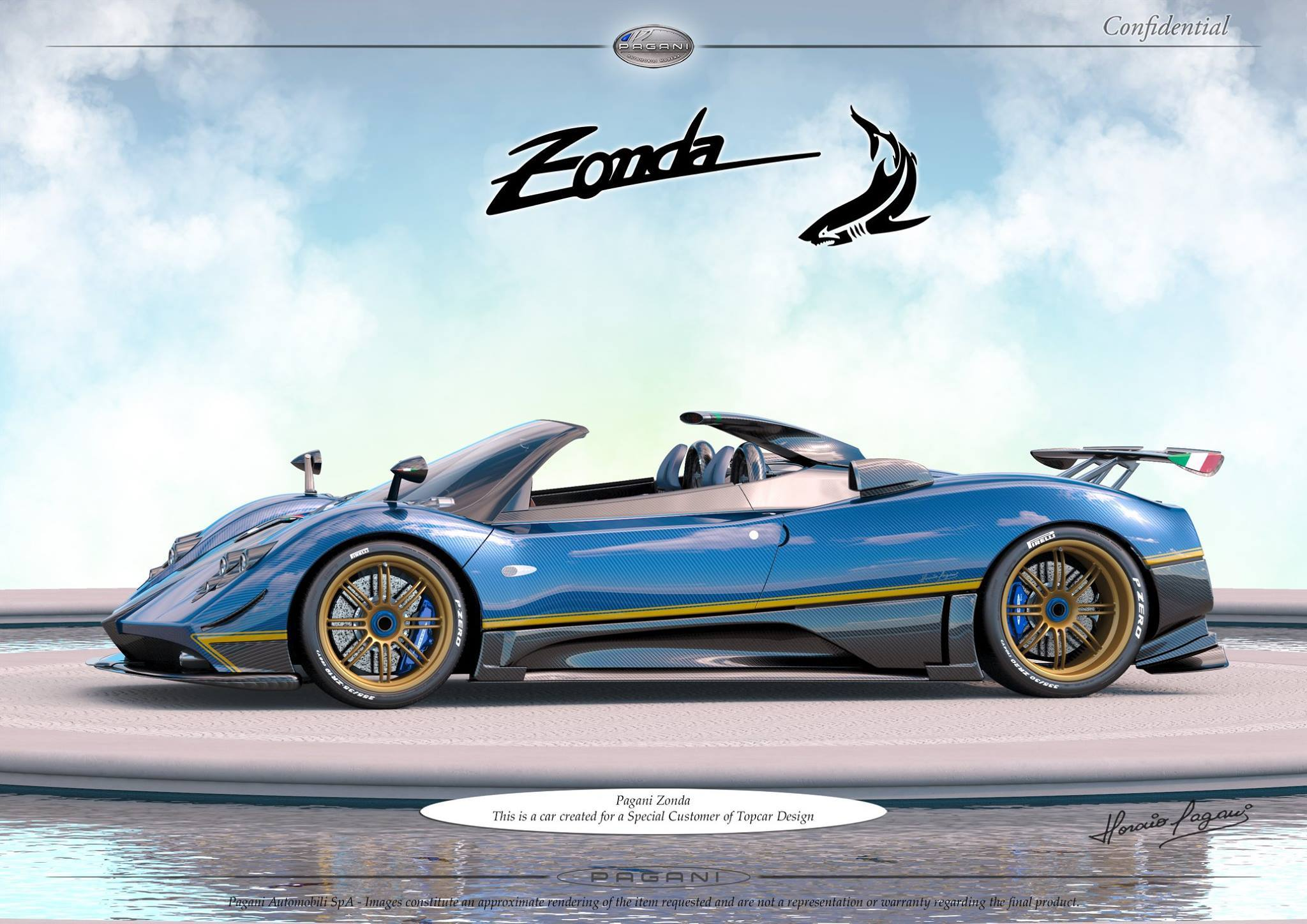 Pagani Creates One-Off Zonda for TopCar Design Customer - GTspirit
