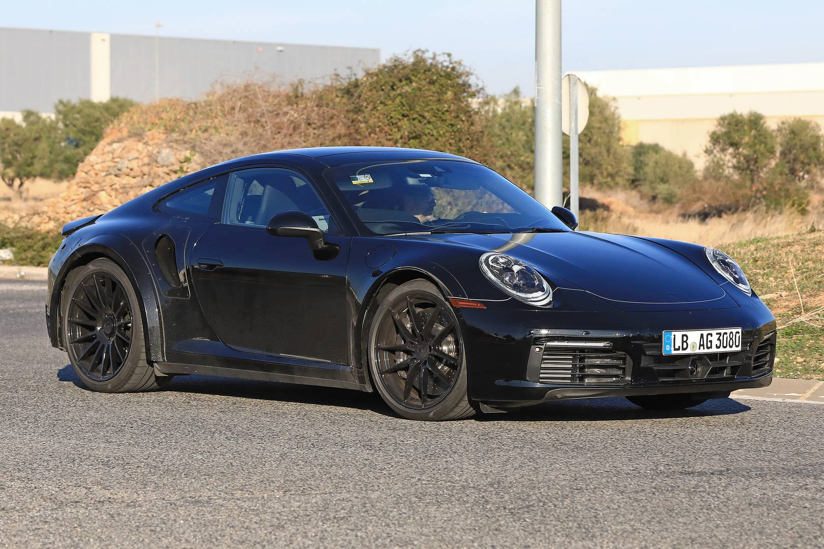 2019 porsche 911 turbo first spy shots gtspirit. Black Bedroom Furniture Sets. Home Design Ideas