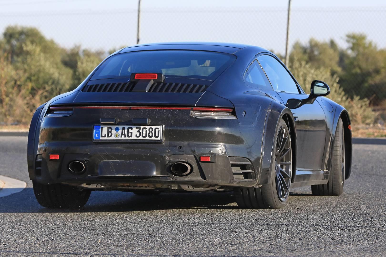 2019 Porsche 911 Turbo S >> 2019 Porsche 911 Turbo First Spy Shots Gtspirit