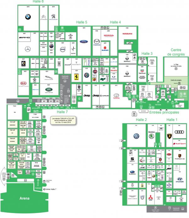 Geneva Motor Show 2018 Floorplan Palexpo Map