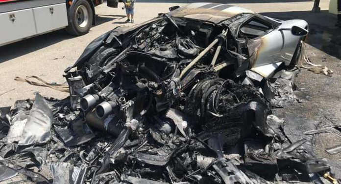 Ford GT Catches Fire