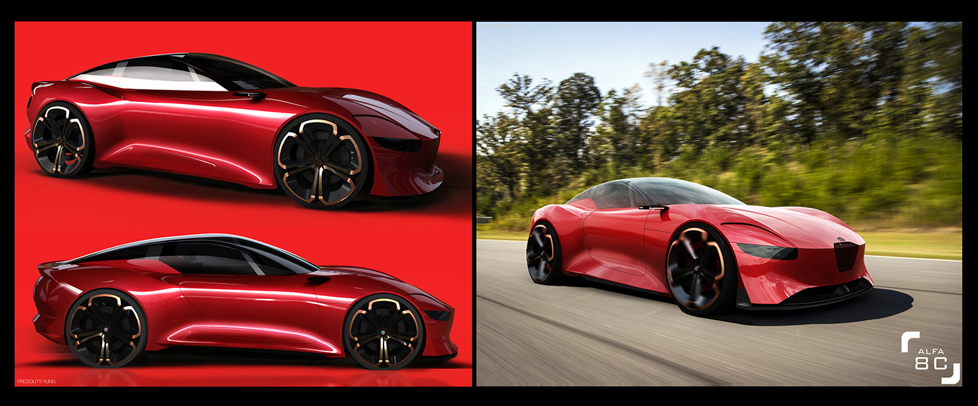 future alfa romeo 8c could get 800hp hybrid powertrain - gtspirit