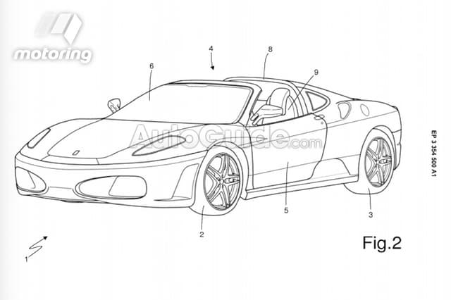 Ferrari Patents Mysterious Targa Top Model in Europe