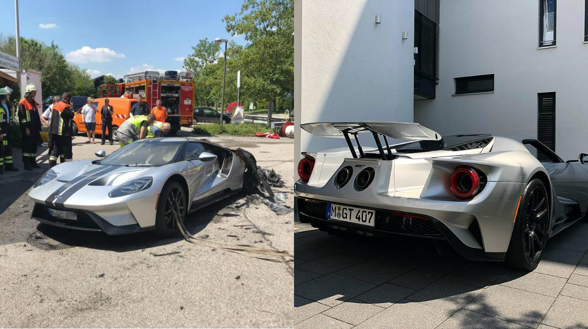 2018 Ford GT that Burned Down in Germany Replaced with a New One