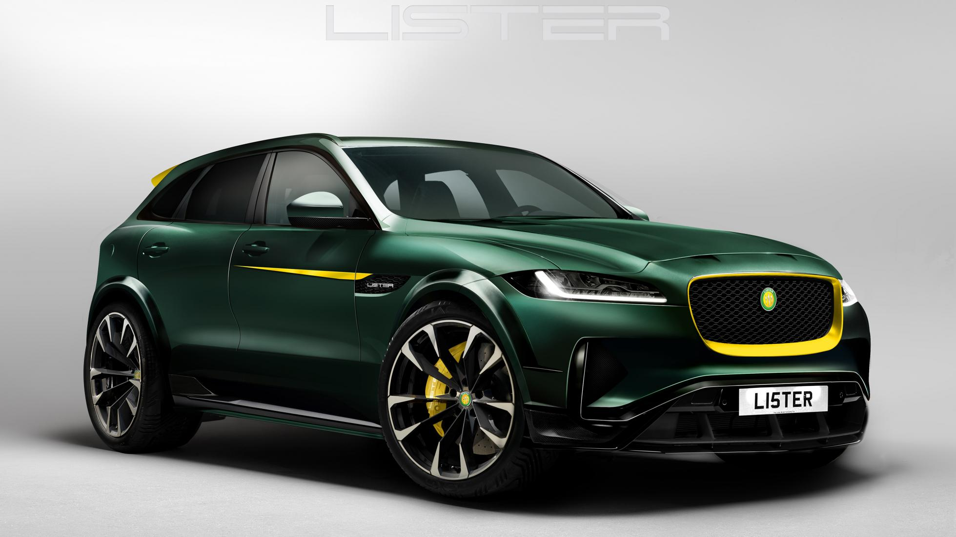 lister jaguar f pace revealed with 680hp and 200mph top speed gtspirit. Black Bedroom Furniture Sets. Home Design Ideas
