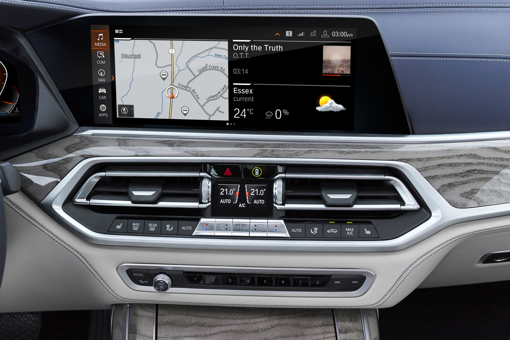 2019 BMW X7 Interface Screen
