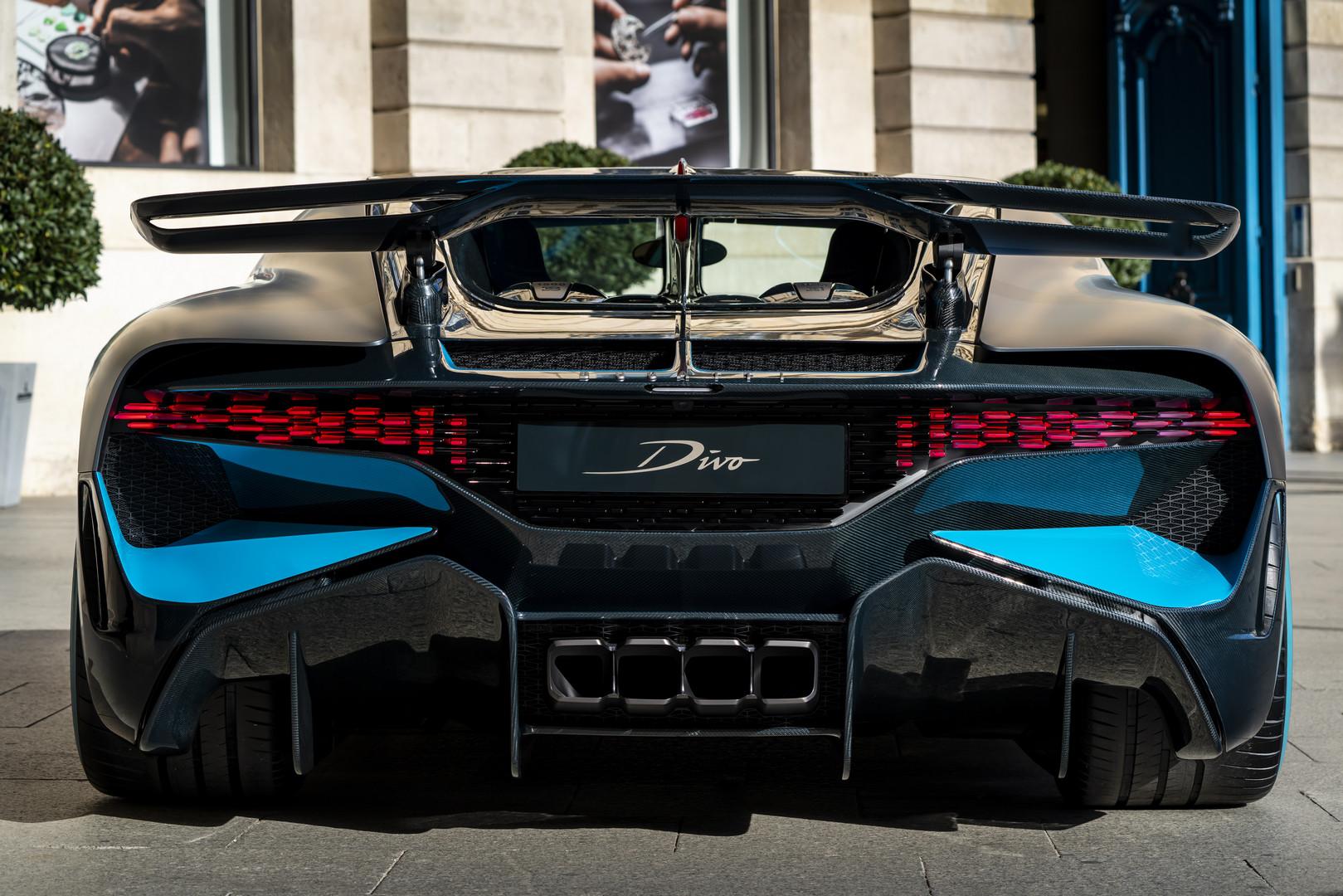 Bugatti Divo Rear View