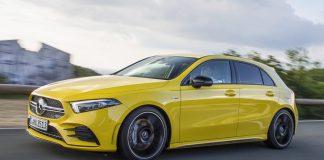 Sun Yellow Mercedes-AMG A35 2019
