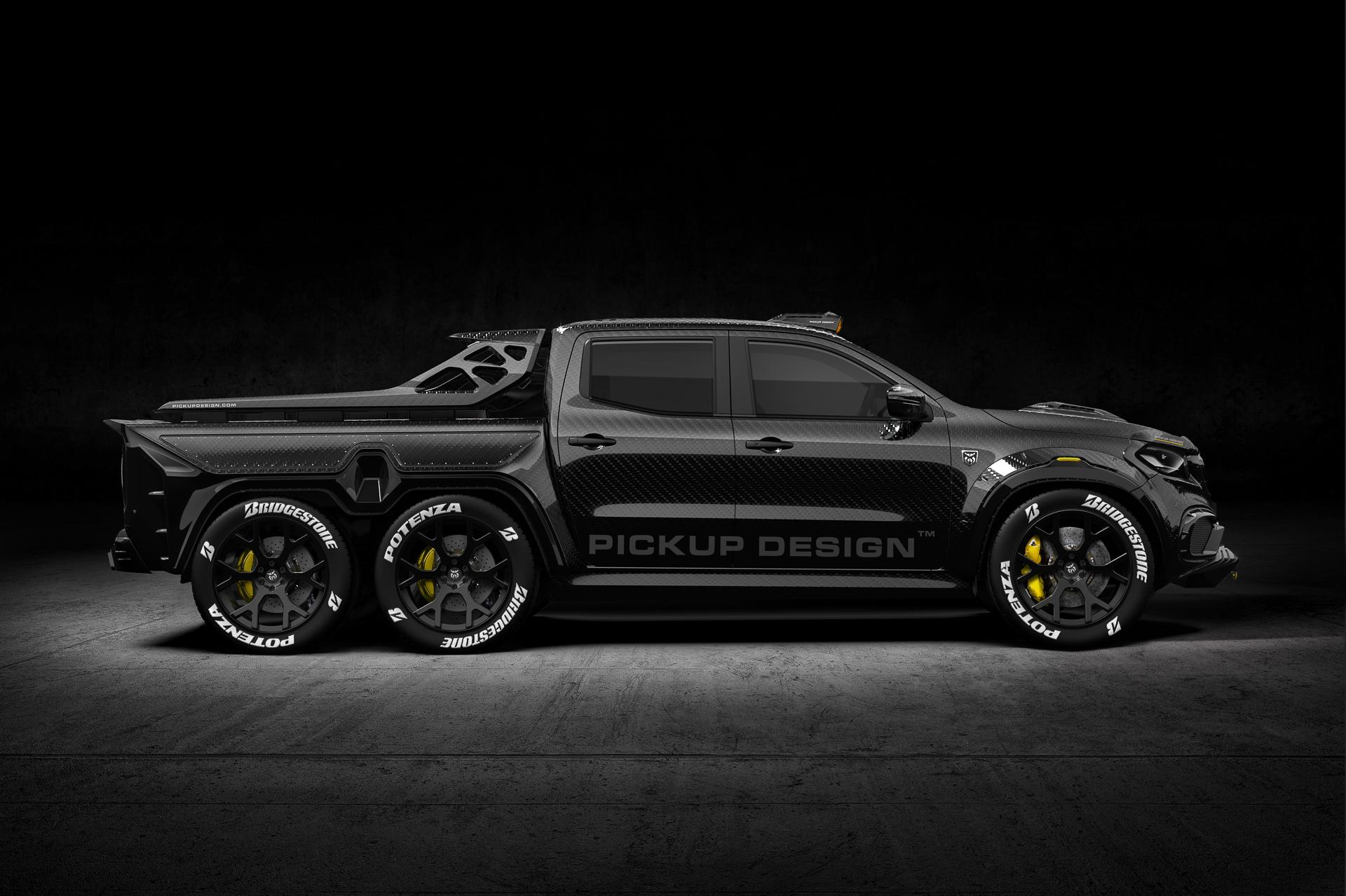 Full Carbon 6 Wheel Mercedes-Benz X-Class