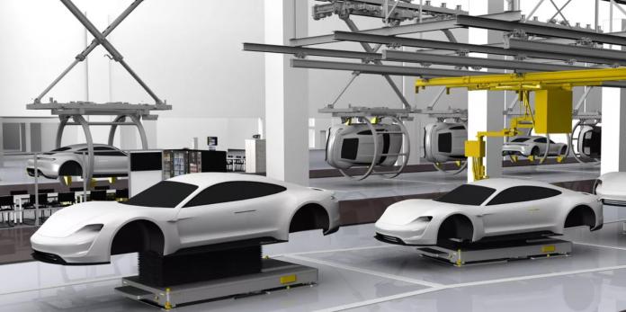 Porsche Taycan Production Line