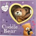 Cuddle Bear Board Book and Snuggler