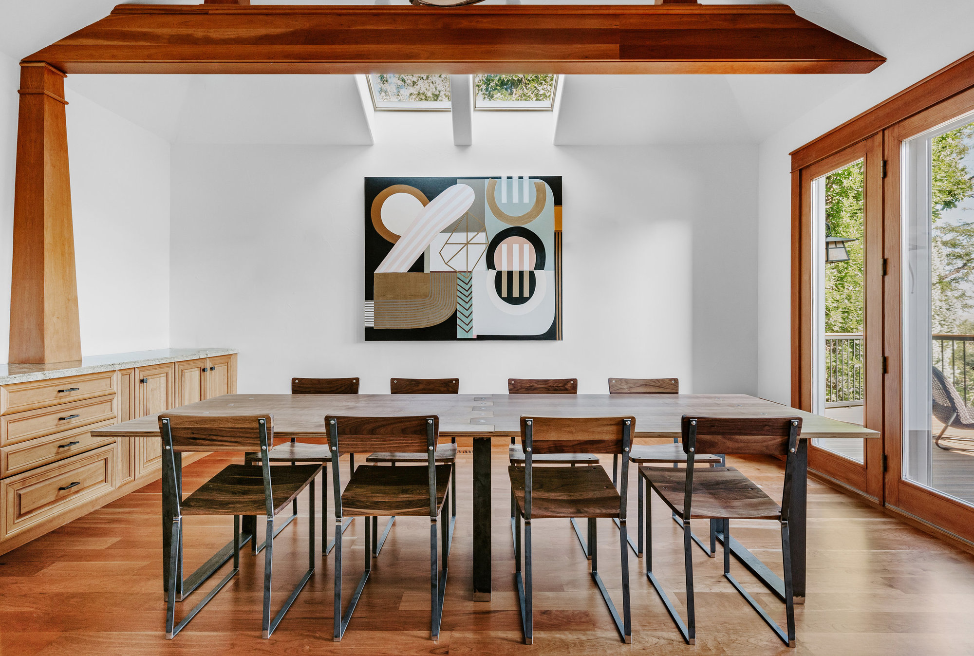 "Enright Jigsaw Dining Table 120"" (Walnut)"