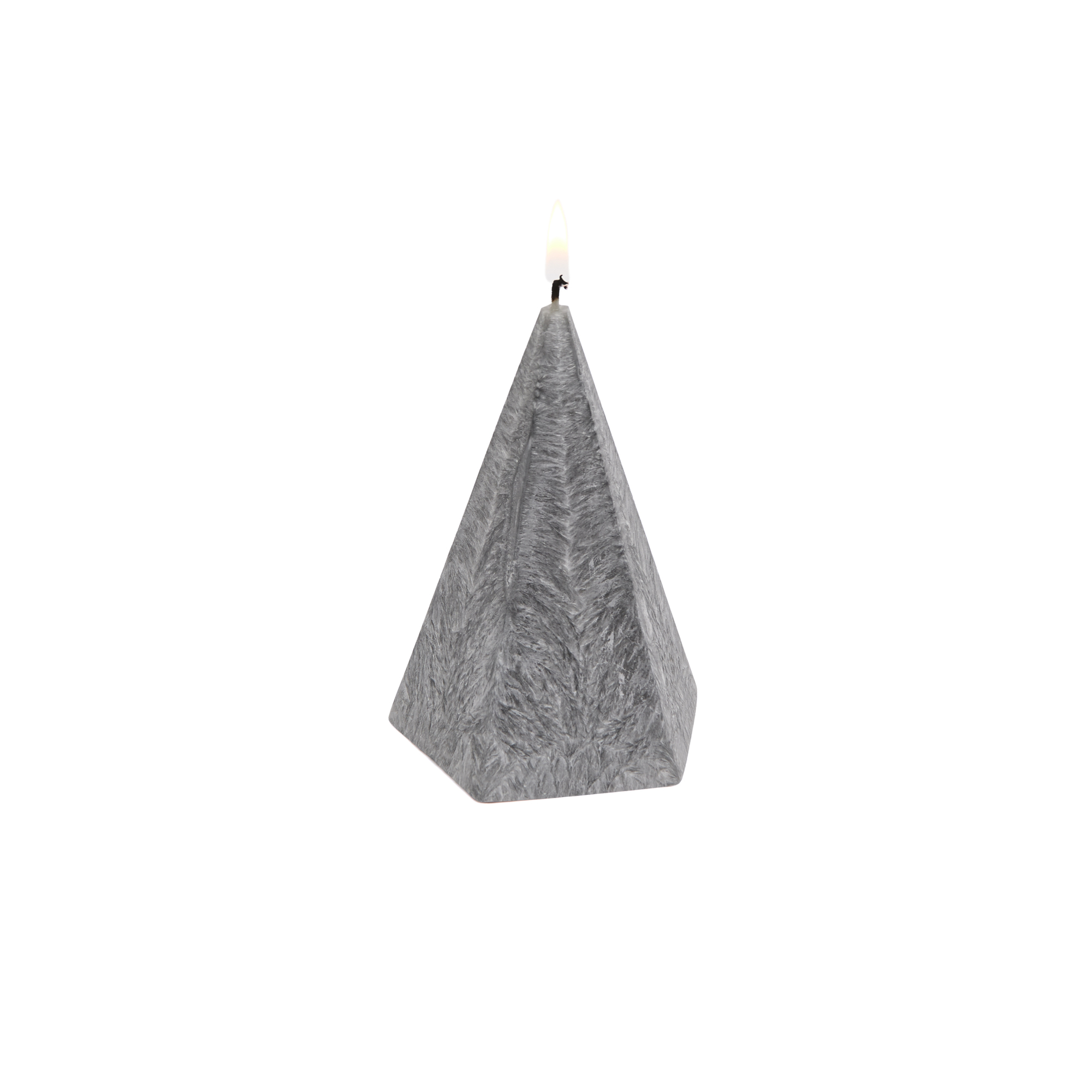 Pyramid Candle - Grey