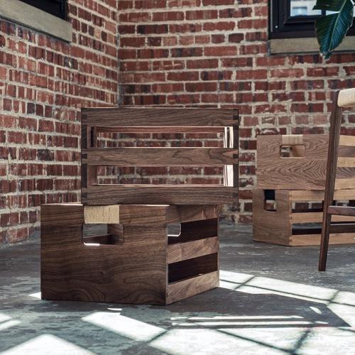 Dovetail Storage Crate - Walnut