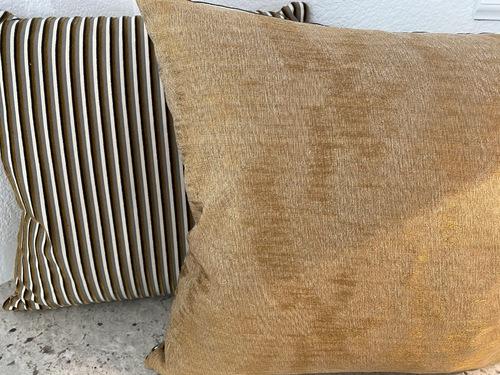 Mustard Silk with Striped Velvet Opposite