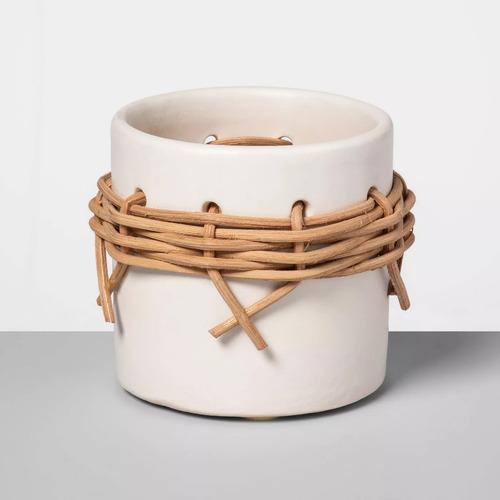 Small Earthenware Rattan Vase