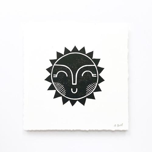 Hand Block Printed Art Print | Sun