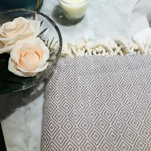 Mandalina Luxe Natural Bath Towel/Sheet