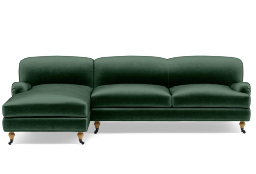 Rose Sofa with Left Chaise (Malachite)