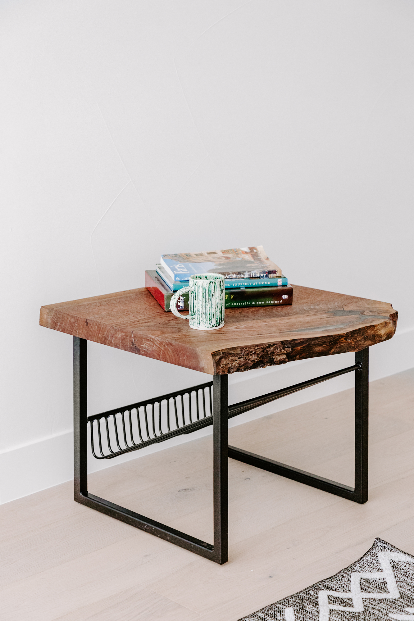 Walnut Slab End Table