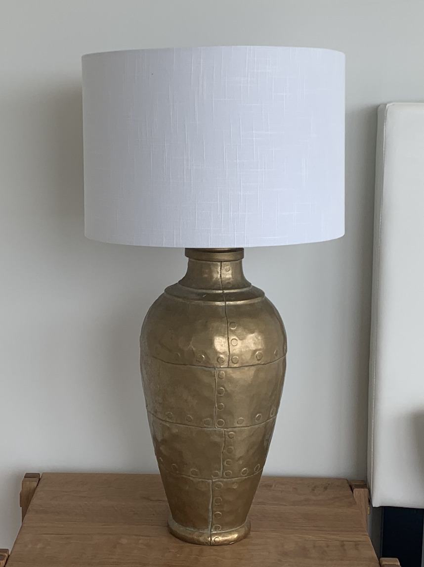 Gold Vintage Hammered Table Lamp