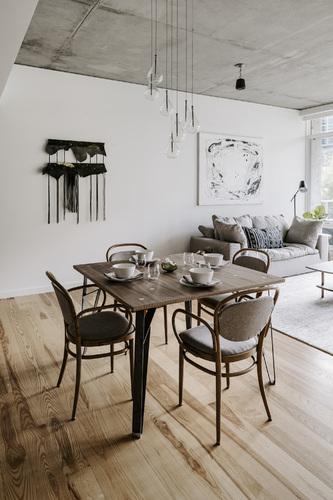 Square Truss Table - Walnut