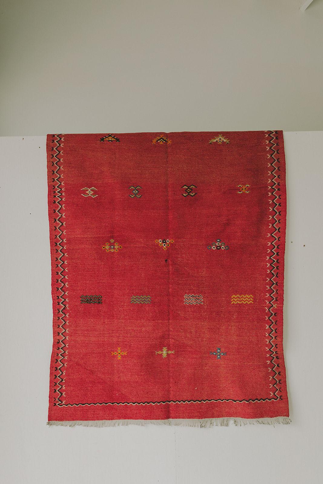 Vintage Kilim (3.6 x 5.2) - Red