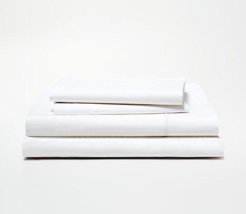 Percale Sheet Set - (Queen, white)