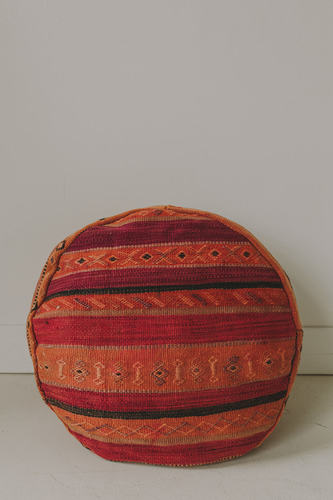 ROUND MOROCCAN RUG POUF - 2