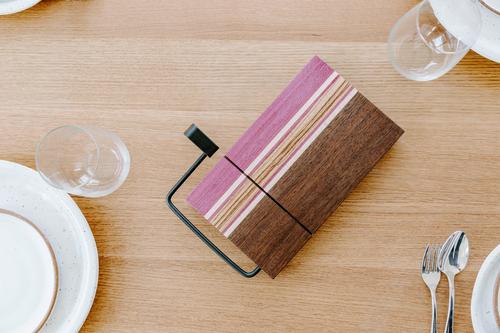 Wood Inlay Cheese Slicer