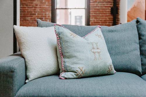 White Textured Pillow
