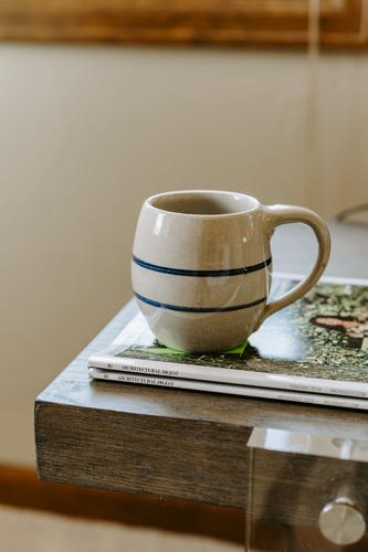 Vintage Blue Striped Mug
