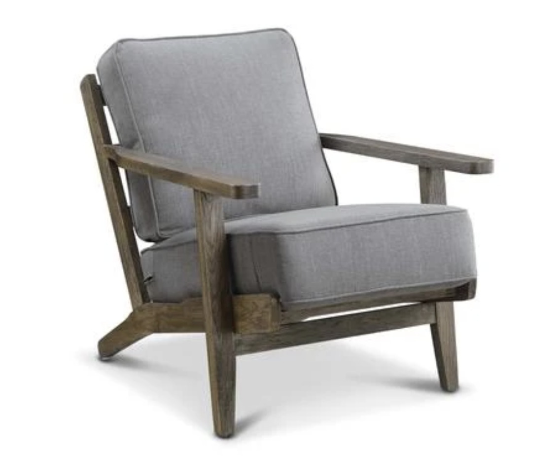 Ryder Accent Chair- in Cliff Grey