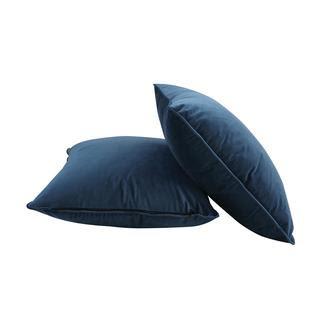 Nia Velvet Pillow - Aegean Blue