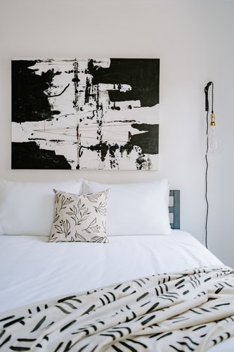 Hand Block Printed Textile | Matchsticks in Black and White
