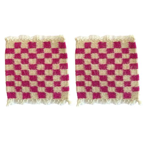 Checkered Coaster ~ Pink