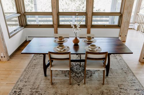 Sculpted Walnut Dining Table