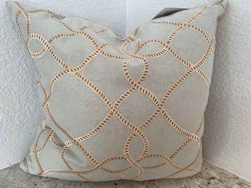 Linen Swirl with Cotton Ticking