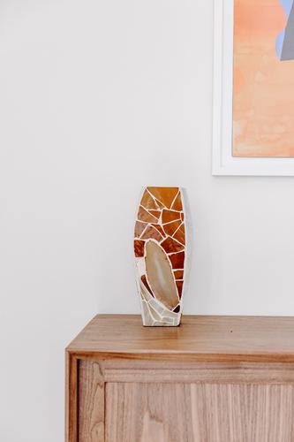 """Pearl"" tile mosaic vase"
