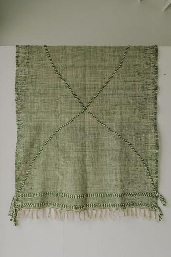 Zanafi Rug  (5.1 x 7.2) - Green/White